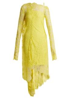 Preen By Thornton Bregazzi Masie lace asymmetric-hem dress