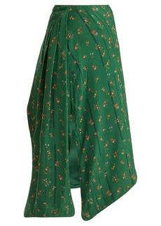 Preen By Thornton Bregazzi Matilda floral-print silk skirt