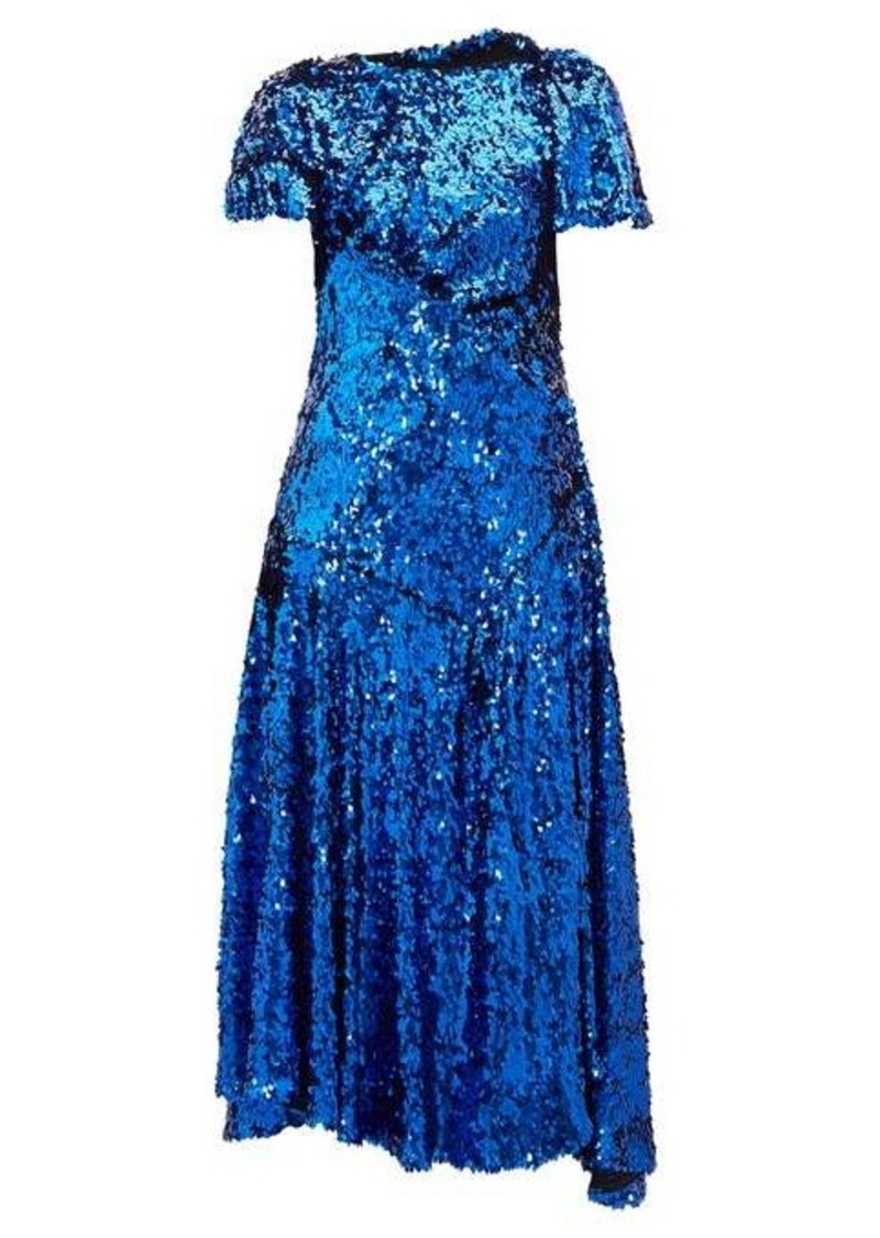 Preen By Thornton Bregazzi Mia gathered sequinned dress