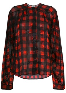 Preen Molly gingham print blouse