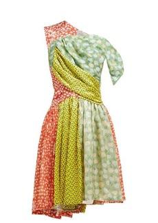 Preen By Thornton Bregazzi Monica multi-print asymmetric silk-blend dress
