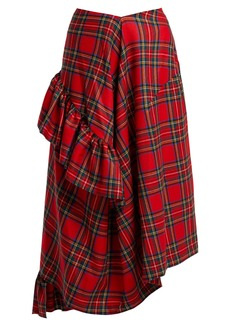 Preen By Thornton Bregazzi Morgan tartan wool midi skirt