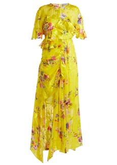 Preen By Thornton Bregazzi Nickesha floral-print satin devoré dress