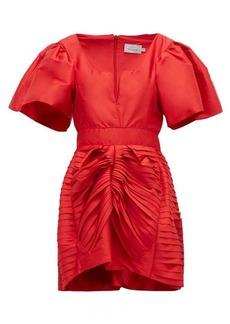 Preen By Thornton Bregazzi Oksana gathered silk-satin mini dress