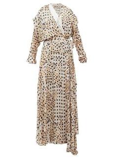 Preen By Thornton Bregazzi Pura Kyoto woodblock-print fil-coupé wrap dress