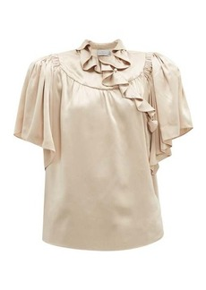 Preen By Thornton Bregazzi Quinn ruffled silk blouse