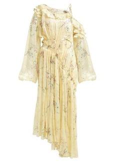 Preen By Thornton Bregazzi Sheila ruched silk-blend devoré dress