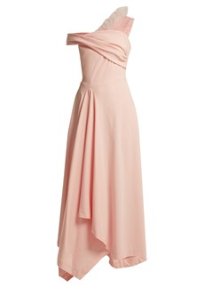 Preen By Thornton Bregazzi Ted off-the-shoulder cady dress