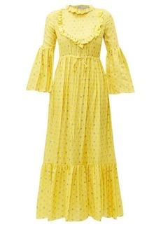 Preen By Thornton Bregazzi Tessa ruffled floral-print satin dress
