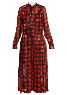 Preen By Thornton Bregazzi Tilly devoré silk-blend dress