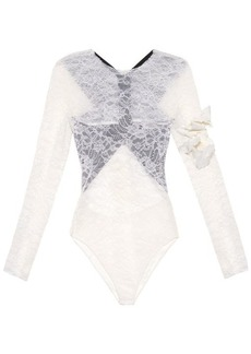 Preen By Thornton Bregazzi Varlese contrast-back lace body