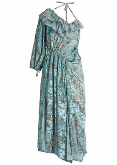Preen By Thornton Bregazzi William flower-print silk-blend devoré dress