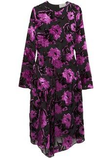 Preen By Thornton Bregazzi Woman Alyssa Draped Devoré-chiffon Dress Magenta