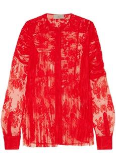 Preen By Thornton Bregazzi Woman Celeste Lace Blouse Red