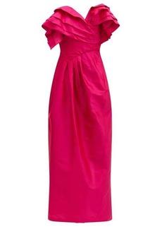 Preen By Thornton Bregazzi Zita ruffled silk-taffeta dress