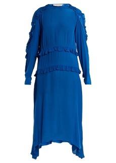 Preen Line Amata ruffled crepe midi dress