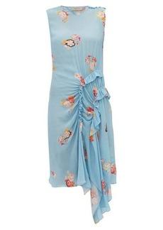 Preen Line Antoinette ruffled floral-print crepe dress