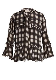 Preen Line Arlina checked woven blouse