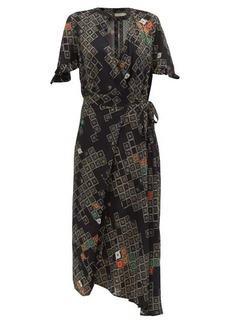 Preen Line Bessara geometric-print wrap dress