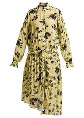 Preen preen line bonna floral print ruched midi dress abv5a894ff8 a