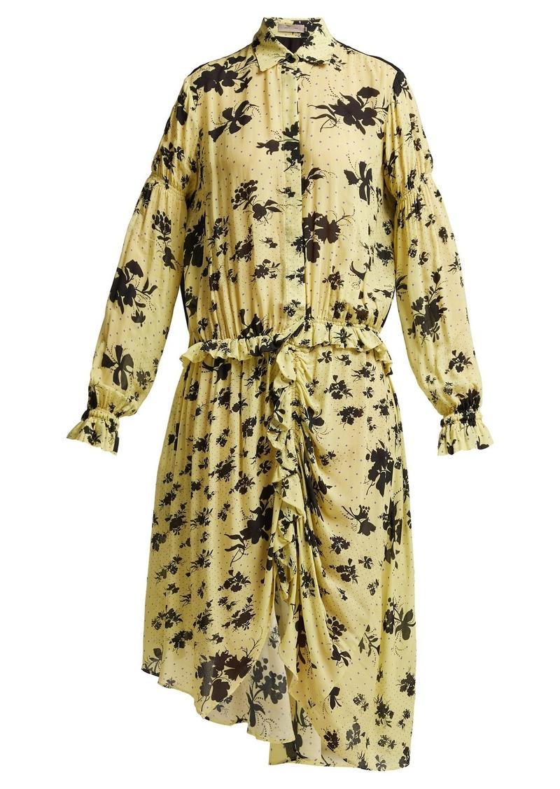 Preen Line Bonna floral-print ruched midi dress