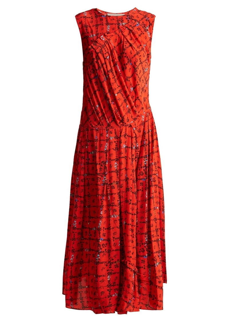 Preen Line Clementina vine and floral-print crepe dress