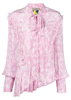 Preen contrast floral shirt