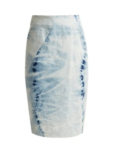 Preen Line Edith tie-dye pencil skirt