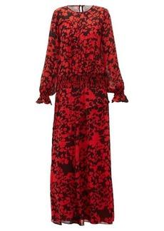 Preen Line Esme floral-print pintucked maxi dress