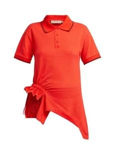 Preen Line Fringed cotton polo shirt