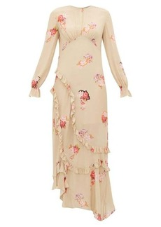 Preen Line Gabriella floral-print crepe de Chine maxi dress