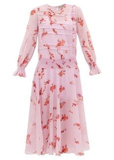 Preen Line Gilda shirred floral-print crepe dress