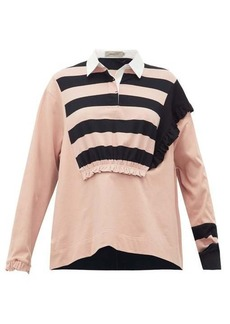 Preen Line Giselle ruched striped cotton rugby top