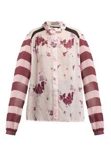 Preen Line Grace panelled chiffon blouse