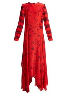 Preen Line Hebe floral-print handkerchief-hem dress