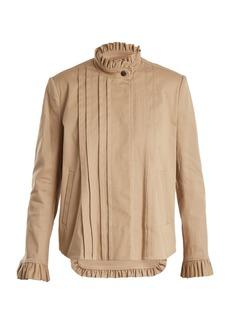 Preen Line Jessie frill-trimmed stretch-cotton jacket
