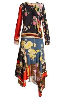 Preen Line Kaia floral-print crepe de Chine dress
