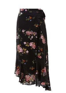 Preen Line Kalifa floral-print silk crepe de Chine skirt