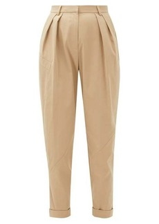 Preen Line Kasia cropped high-waist twill trousers