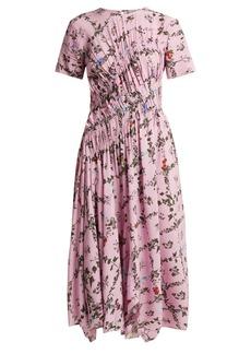 Preen Line Keziah floral-print handkerchief-hem midi dress