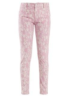 Preen Line Kiera skinny floral-print corduroy trousers