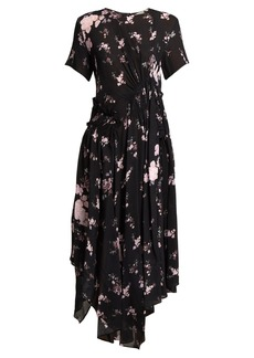 Preen Line Lois ruched floral-print chiffon dress