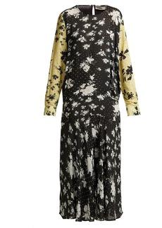 Preen Line Marin floral-print drop-waist midi dress
