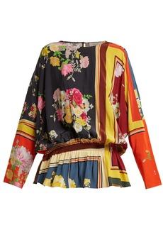 Preen Line Nora floral-print peplum blouse