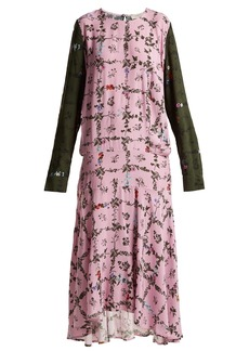 Preen Line Rowen vine and floral-print crepe dress