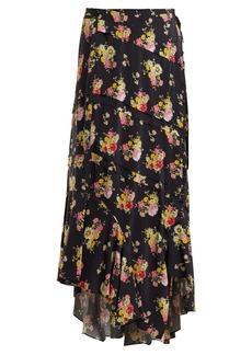 Preen Line Sibyll floral-print crepe de Chine midi skirt