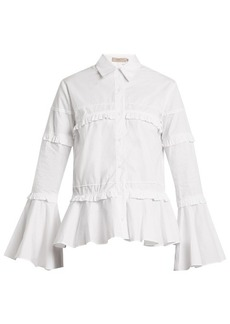 Preen Line Suki ruffle-trimmed cotton shirt