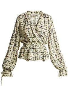 Preen Line Verena vine-print blouse