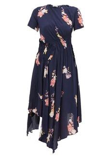 Preen Line Verna floral-print crepe de Chine midi dress