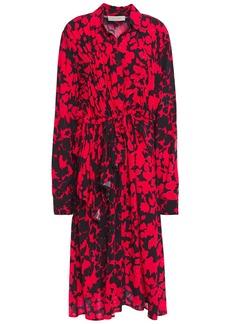 Preen Line Woman Felicity Ruffled Printed Crepe Dress Red
